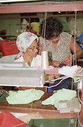 Women working in clothing factory in Havana; Cuba,