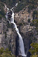 The snow melt from the mountains swells the rivers and falls in Yosemite.