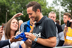 Derby County manager Frank Lampard signs autographs for fans - Mandatory by-line: Ryan Crockett/JMP - 18/07/2018 - FOOTBALL - One Call Stadium - Mansfield, England - Mansfield Town v Derby County - Pre-season friendly