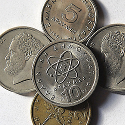Bild zeigt Symbolbild der alten griechischen Währung, Drachne // Picture shows icon image of the old Greek currency, Drachne, pictured in Augsburg, Germany on 2015/03/02. EXPA Pictures © 2015, PhotoCredit: EXPA/ Eibner-Pressefoto/ Franz<br /> <br /> *****ATTENTION - OUT of GER*****