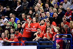 Bristol Flyers fans - Photo mandatory by-line: Ryan Hiscott/JMP - 26/01/2020 - BASKETBALL - Arena Birmingham - Birmingham, England - Bristol Flyers v Worcester Wolves - British Basketball League Cup Final