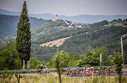 First group in Crni Kal during Stage 1 of 24th Tour of Slovenia 2017 / Tour de Slovenie from Koper to Kocevje (159,4 km) cycling race on June 15, 2017 in Slovenia. Photo by Vid Ponikvar / Sportida
