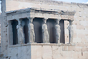 Erechtheion, Acropolis, Athens, Greece, UNESCO word heritage site Porch of the Caryatids