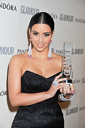 KIM KARDASHIAN at the Glamour Women of The Year Awards 2011 held in Berkeley Square, London W1 on 7th June 2011.