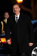 Koning Willem Alexander en Koningin Maxima ontvangen  de delegatieleiders van de Nuclear Security Summit (NSS) voor een diner op Paleis Huis Ten Bosch in Den Haag.<br /> <br /> King Willem Alexander and Queen Maxima receive the heads of delegation of the Nuclear Security Summit (NSS) for a dinner at the palace Huis Ten Bosch in The Hague.<br /> <br /> Op de foto / On the photo:  President Ilham Aliyev van Azerbeidzjan / President Ilham Aliyev of Azerbaijan