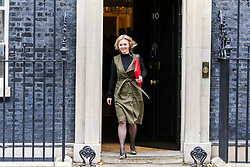 © Licensed to London News Pictures. 29/10/2019. London, UK. Secretary of State for International Trade LIZ TRUSS departs from No 10 Downing Street after attending the weekly cabinet meeting. Photo credit: Dinendra Haria/LNP