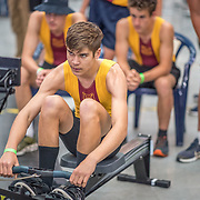 Luka Harris MALE HEAVYWEIGHT U17 1K Race #13  12:15pm<br /> <br /> www.rowingcelebration.com Competing on Concept 2 ergometers at the 2018 NZ Indoor Rowing Championships. Avanti Drome, Cambridge,  Saturday 24 November 2018 © Copyright photo Steve McArthur / @RowingCelebration