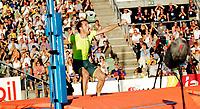 Friidrett<br /> Bislett Games<br /> Bislett Stadion <br /> 11.06.14<br /> Renaud Lavillenie over vinnerhøyden , 5.70 eirer<br /> <br /> Foto: Eirik Førde