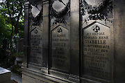 Tomb for the Isabelle family in the Pere Lachaise cemetery, Paris.