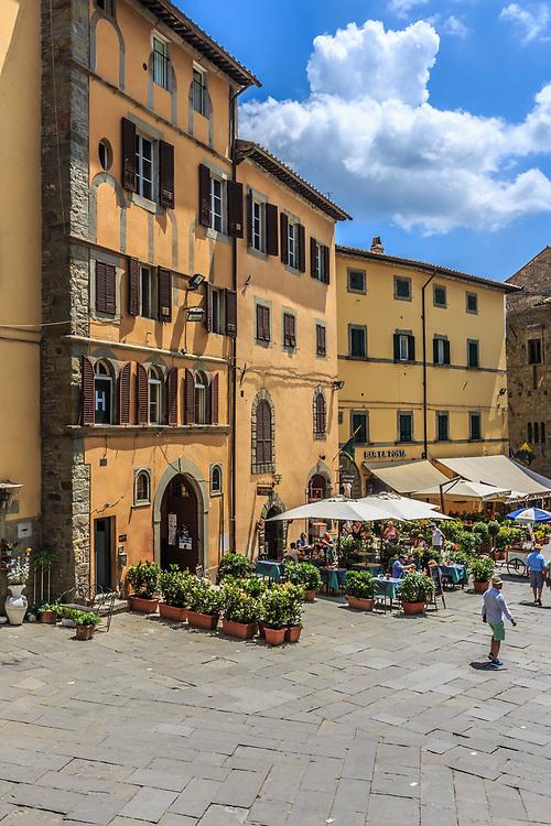 Piazza Signorelli in Cortona, Italy.