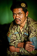 An Afghan National Army sergeant in his room at Combat Outpost Nolen.