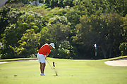 Doc Redman of Clemson hits his approach shot on number five during the first round of the 3rd annual Kaanapali Classic collegiate invitational. Kaanapali Royal Course Lahaina, Hawaii November 4th, 2016/ Photo by Aric Becker