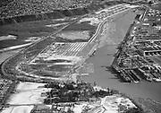 Ackroyd 01216-3. Mock's Bottom & Swan Island. Aerials. January 12, 1949