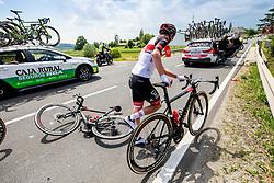 Tadej POGACAR of UAE TEAM EMIRATESduring 1st Stage of 27th Tour of Slovenia 2021 cycling race between Ptuj and Rogaska Slatina (151,5 km), on June 9, 2021 in Sports park Kranj, Kranj, Slovenia. Photo by Ziga Zupan / Sportida