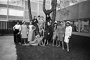 05/04/1965<br /> 04/05/1965<br /> 05 April 1965<br /> Second Irish Export Fashion Fair opened at the Intercontinental Hotel, Dublin. Picture shows some of the models taking part in the Fair's fashion parades. Including ModelAnn Carolan nee Kavanagh originally from Spalodge, Phoenix Park, Dublin