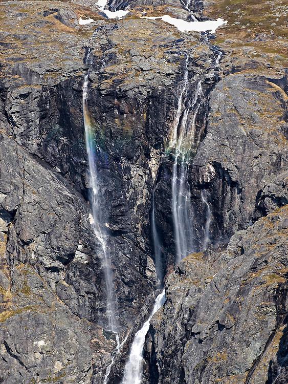 Norway - Isterdalen waterfalls with rainbow