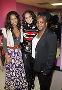 l to r: Sade Lythcott, Alicia Keys, and Shirely Faison at the Dr. Barbara Ann Teer's Institute of Action Arts launch for the 41st  Communication Arts Program Symposium held at The National Black Theater in Harlem, NY on March 27, 2009