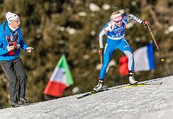 24.01.2019, Suedtirol Arena, Antholz, ITA, IBU Weltcup Biathlon, Sprint, Damen, im Bild Kaisa Makarainen (FIN) // Kaisa Makarainen of Finland during women' s Sprint of BMW IBU Biathlon World Cup at the Suedtirol Arena in Antholz, Italy on 2019/01/24. EXPA Pictures © 2019, PhotoCredit: EXPA/ Stefan Adelsberger