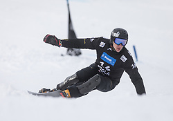 Sobolev Andrey during the FIS snowboarding world cup race in Rogla (SI / SLO) | GS on January 20, 2018, in Jasna Ski slope, Rogla, Slovenia. Photo by Urban Meglic / Sportida