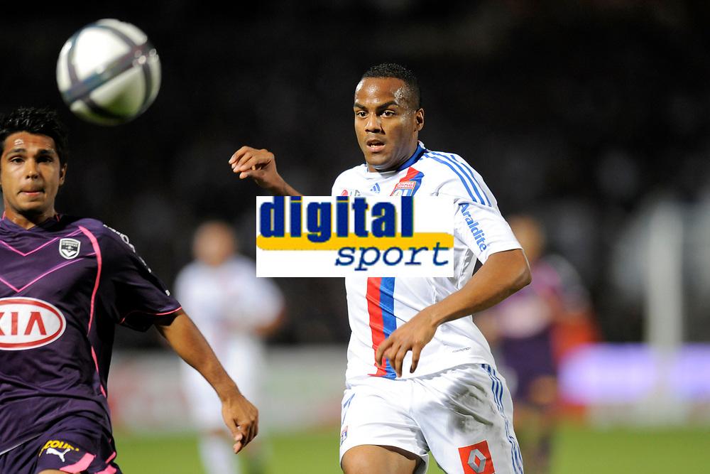 FOOTBALL - FRENCH CHAMPIONSHIP 2010/2011 - L1 - GIRONDINS BORDEAUX v OLYMPIQUE LYONNAIS - 19/09/2010 - PHOTO JEAN MARIE HERVIO / DPPI - JIMMY BRIAND (OL)