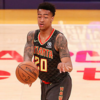 07 January 2018: Atlanta Hawks forward John Collins (20) passes the ball during the LA Lakers 132-113 victory over the Atlanta Hawks, at the Staples Center, Los Angeles, California, USA.