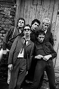 Ultravox British Grove photosession Island Records 1980 with Midge Ure and John Foxx