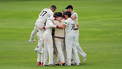 Somerset celebrate victory.  - Mandatory by-line: Alex Davidson/JMP - 22/09/2016 - CRICKET - Cooper Associates County Ground - Taunton, United Kingdom - Somerset v Nottinghamshire - Specsavers County Championship Division One