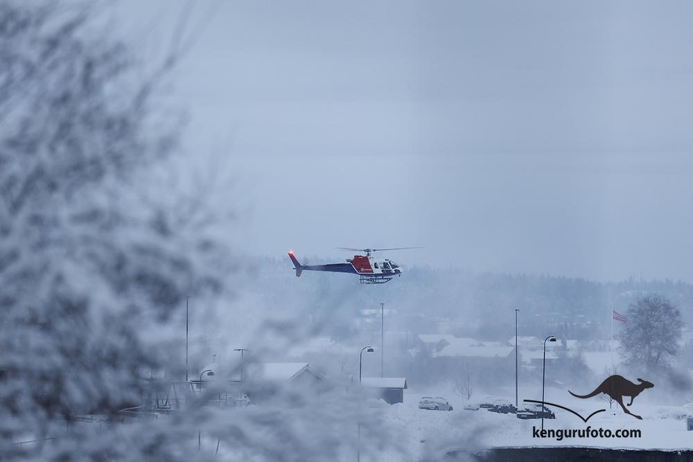 Ask 20210102. <br /> Stort jordskred har gått ved Ask i Gjerdrum. Flere boliger er tatt av skredet og 09 personer er savnet. Over 1000 personer i området er evakuert.<br /> Foto: Tor Erik Schrøder / NTB