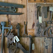 Old hand tools in an old barn, Fryeburg Maine