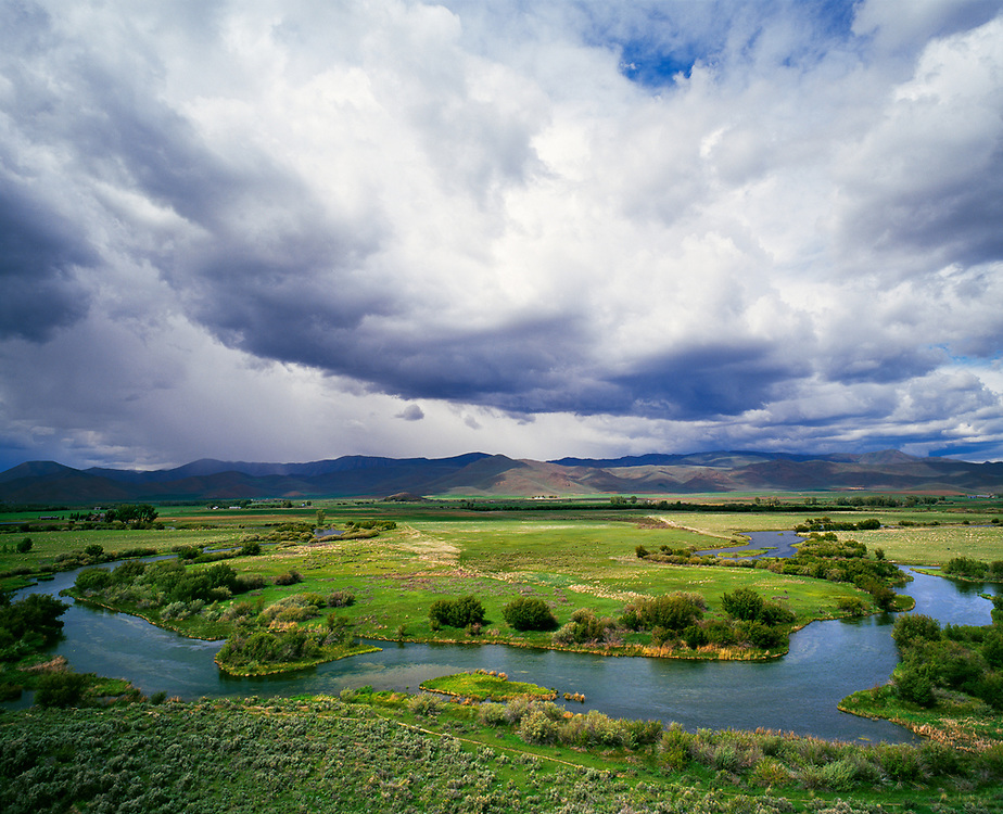 Editions of 8<br /> Summer storm threatens rain at the Nature Conservancy's Silver Creek Preserve in Picabo Idaho.