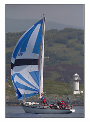 Bell Lawrie Series Tarbert Loch Fyne - Yachting.The second day's inshore races...Valhalla of Ashton, GBR2496 off Skate Light in CYCA Class 6. .