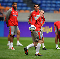 Wayne Rooney<br /> England 2009/10<br /> England Training Session in the Amsterdam Arena 11/08/09<br /> Photo Robin Parker Fotosports International