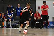 Capital player Grant Baker in the Mens Futsal Superleague match, Central v Capital, Pettigrew Green Arena, Napier, Saturday, September 28, 2019. Copyright photo: Kerry Marshall / www.photosport.nz
