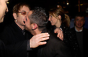 Sir Elton John, Shaun Leane and Sam Taylor Wood . Party hosted by Isabella Blow in honour of Shaun Leane to celebrate his jewelry collection. Liberty's. London. 8 December 2004. ONE TIME USE ONLY - DO NOT ARCHIVE  © Copyright Photograph by Dafydd Jones 66 Stockwell Park Rd. London SW9 0DA Tel 020 7733 0108 www.dafjones.com