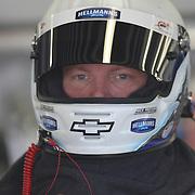 Stock car driver during warm ups for the 2010 Daytona 500 race at the Daytona International Speedway on February 10, 2010 in Daytona Beach, Florida. (AP Photo/Alex Menendez)