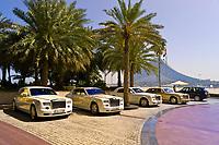 Rolls Royce limousines, Burj al Arab Hotel, Dubai, United Arab Emirates