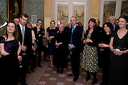 The Dowager Duchess od Devonshire and Catherine Ostler editor of the Tatler host a party to celebrate Penguin's reissue of Nancy Mitford's ' Wigs on the Green.'  The French Salon. Claridge's. London. 10 March 2010.