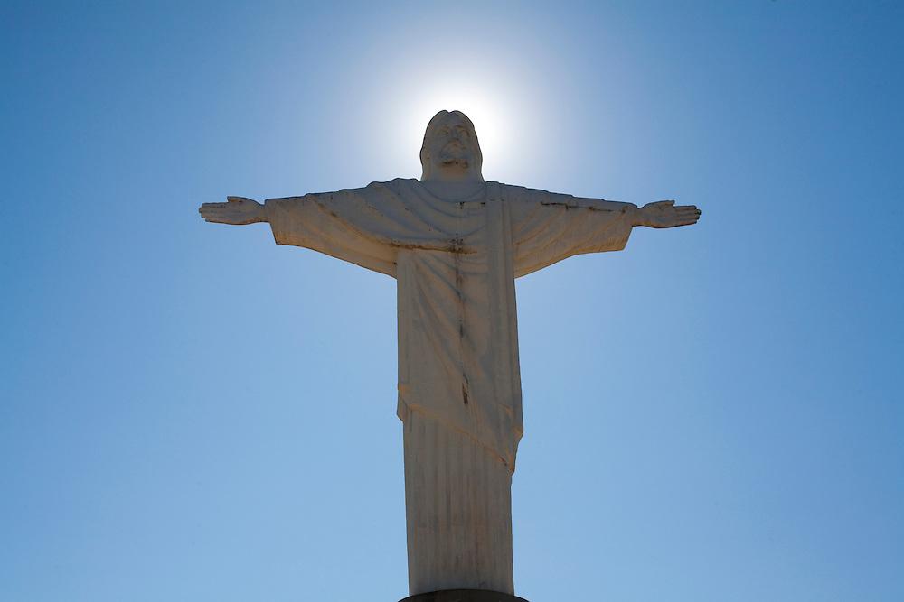 Araxa_MG, Brasil...Cidade de Araxa, Minas Gerais. Na foto parcial do Cristo...The Araxa city, Minas Gerais. In this photo the Christ. ..Foto: LEO DRUMOND / NITRO