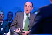 Ignacio Sánchez Galán, Chairman and Chief Executive Officer, Iberdrola, Spain, speaking in the Stakeholder dialogue; Shaping the Future of Energy and Materials session at the World Economic Forum Annual Meeting 2020 in Davos-Klosters, Switzerland, 22 January. Congress Centre - Aspen 1 Room. Copyright by World Economic Forum/ Greg Beadle