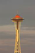 "The Space Needle, shown on April 21, 2012, the 50th anniversary of the opening of the World's Fair in Seattle, Washington, displays its original ""galaxy gold"" color. The fair, officially called the Century 21 Exposition, highlighted space and science achievements and the Space Needle was built specifically for the occasion. Ten million people attended the Seattle World's Fair, which ran from April 21 to October 21, 1962."