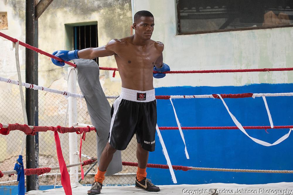 boxers, Gimnasio Rafael Trejo, a renowned open air boxer training facility, Havana, Cuba