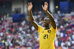 June 23, 2018 - Moscow, Russia - Michy Batshuayi of Belgium thanks his fans during the 2018 FIFA World Cup Group G match between Belgium and Tunisia at Spartak Stadium in Moscow, Russia on June 23, 2018  (Credit Image: © Andrew Surma/NurPhoto via ZUMA Press)