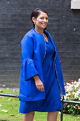 London, September 5th 2017. International Development Secretary Priti Patel leaves the first UK cabinet meeting at Downing Street after the summer recess. ©Paul Davey