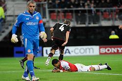 25-11-2009 VOETBAL: AZ - OLYNPIACOS<br /> Door het gelijke spel 0-0 in AZ uitgeschakeld in de Champions League / Grote kans voor Jeremain Lens<br /> ©2009-WWW.FOTOHOOGENDOORN.NL