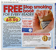 Cigarette Packet Being Crushed / The Sun / March 2006