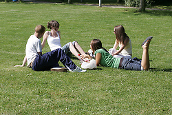 College students relaxing UK
