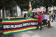 Rally in central London held by MDC every Saturday to protest against Robert Mugabe and his regime in Zimbabwe.