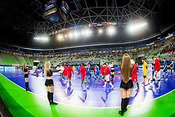 Arena Stozice during futsal match between Portugal and Azerbaijan in Quaterfinals of UEFA Futsal EURO 2018, on February 6, 2018 in Arena Stozice, Ljubljana, Slovenia. Photo by Ziga Zupan / Sportida