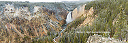 67545-09111 Lower Falls in fall, Yellowstone National Park, WY