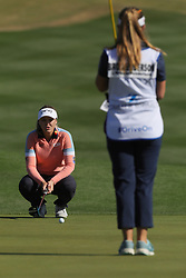 March 22, 2019 - Phoenix, AZ, U.S. - PHOENIX, AZ - MARCH 22: Brooke Henderson lines up her putt on the 16th hole during the second round of the Bank of Hope LPGA Golf Tournament at the Wildfire Golf Club at JW Marriott Phoenix Desert Ridge Resort & Spa, March 22, 2019 in Phoenix, Arizona (Photo by Will Powers/Icon Sportswire) (Credit Image: © Will Powers/Icon SMI via ZUMA Press)